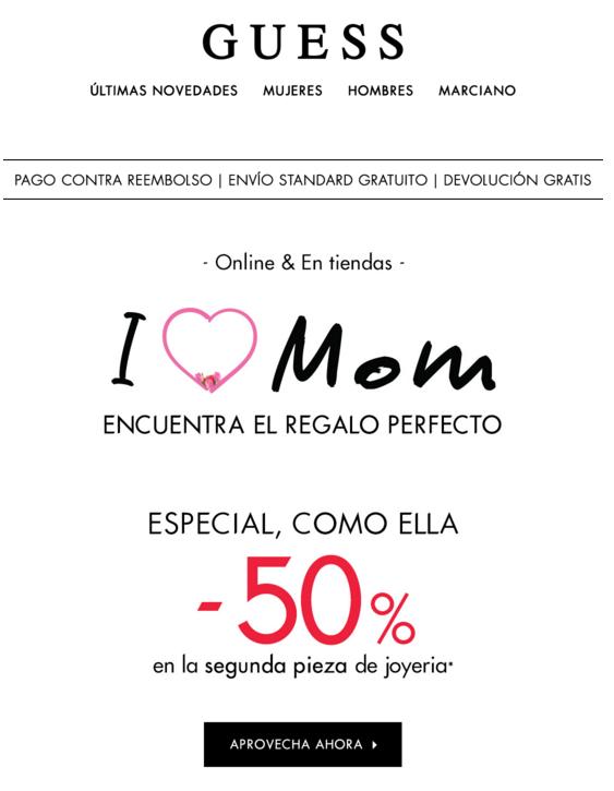 Las mejores campañas digitales del Día de la Madre: Guess