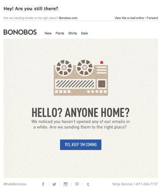 recuperar usuarios inactivos: Bonobos