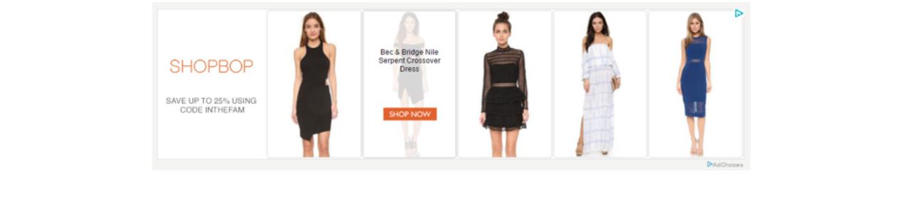 crear una campaña de retargeting: ShopBop