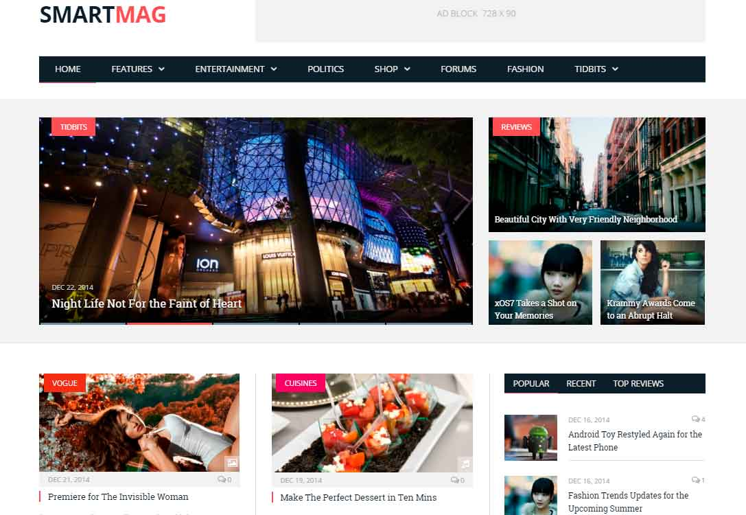 best WordPress templates: SmartMag