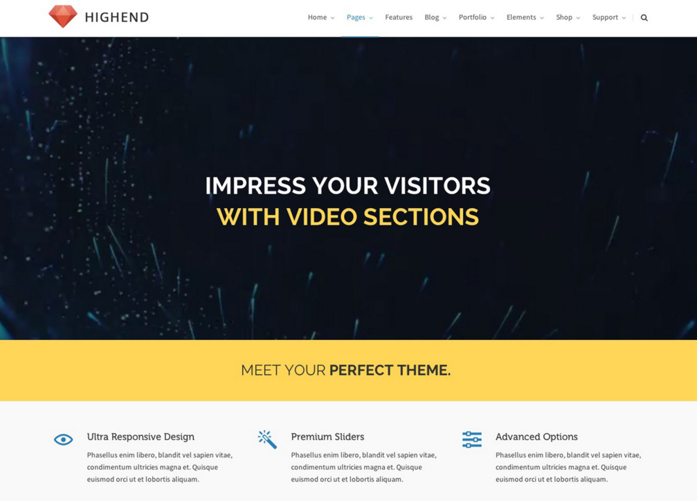 best WordPress templates: Highend