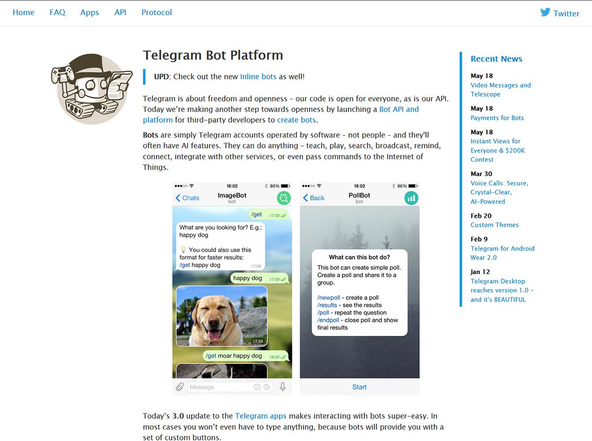 chatbots para Telegram