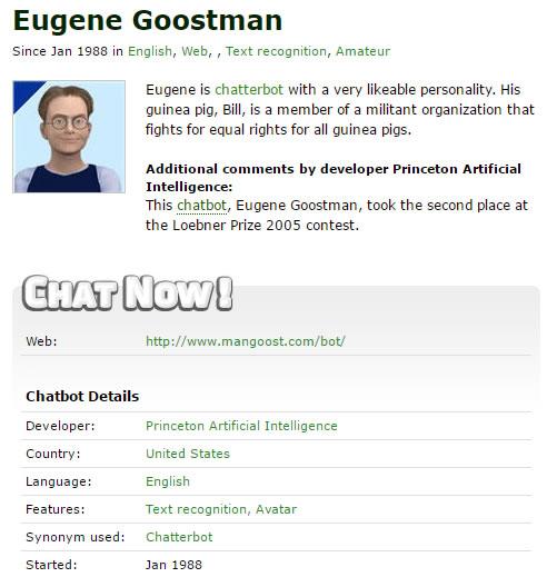 Eugene, uno de los primeros chatbots