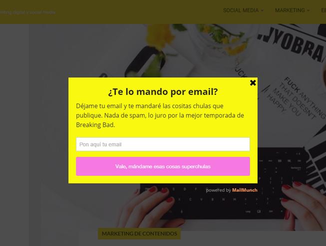 formularios para captar clientes: San Arias