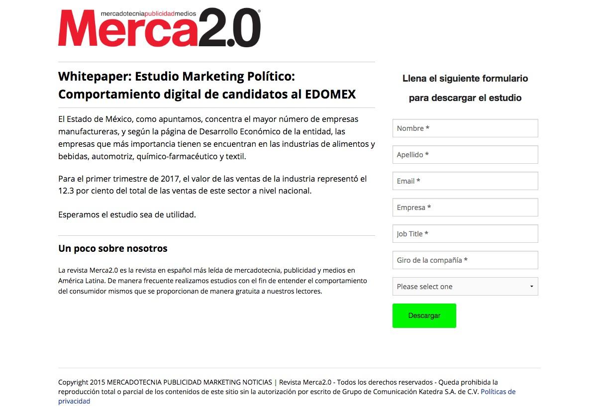 formularios para captar clientes: Merca 2.0
