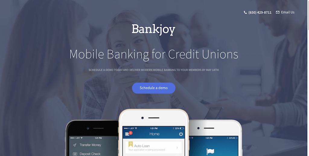 campañas exitosas de landing pages: Bankjoy