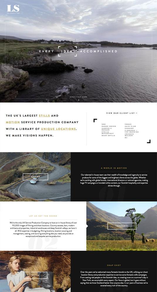 campañas exitosas de landing pages: LS Productions