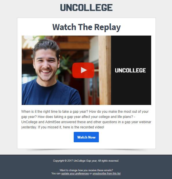 newsletter de Uncollege