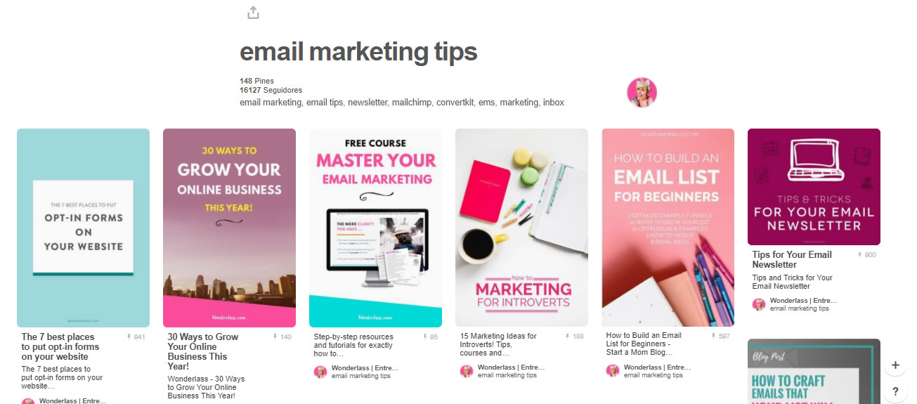 tableros de marketing digital: email marketing
