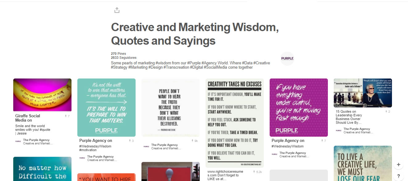 tableros de marketing digital: Creative and Marketing Wisdom, Quotes and Sayings