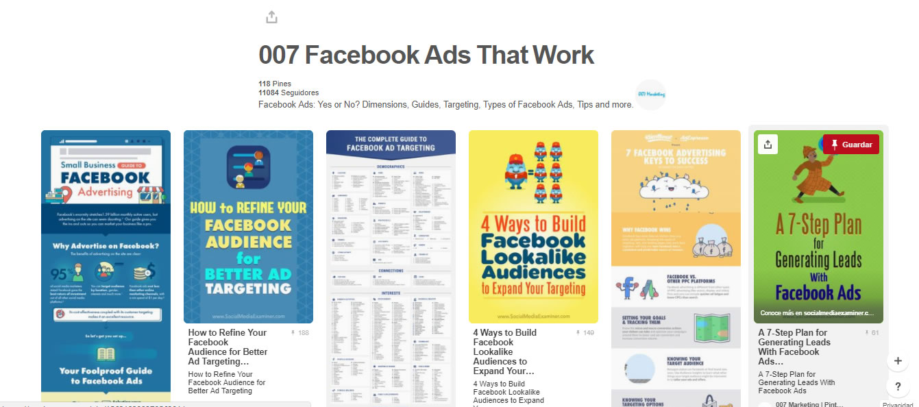 tableros de marketing digital: Facebook Ads