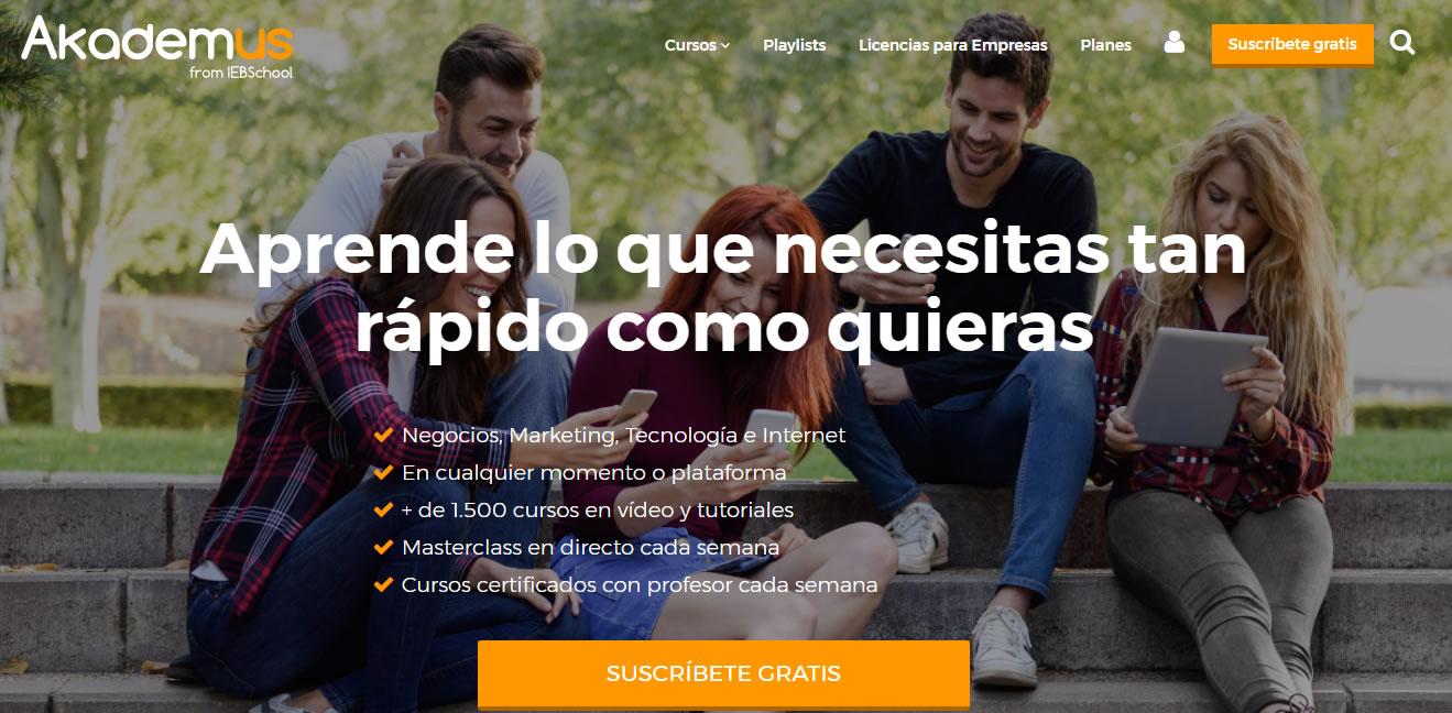 cursos gratuitos de marketing digital: Akademus