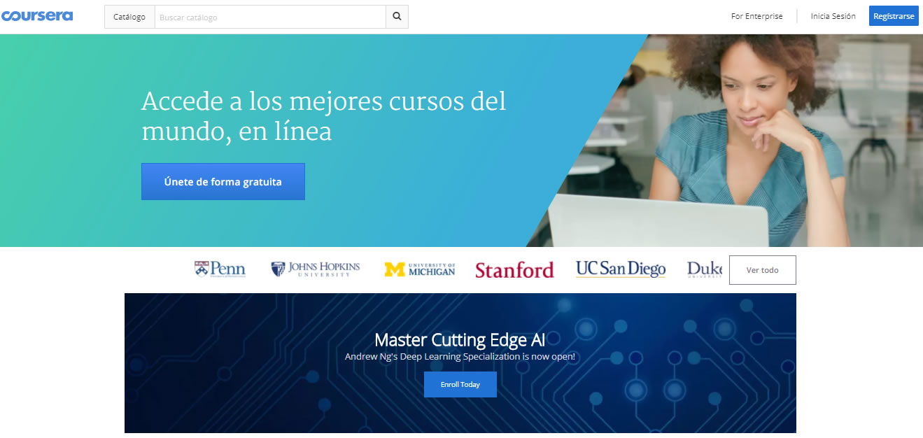cursos gratuitos de marketing digital: Coursera