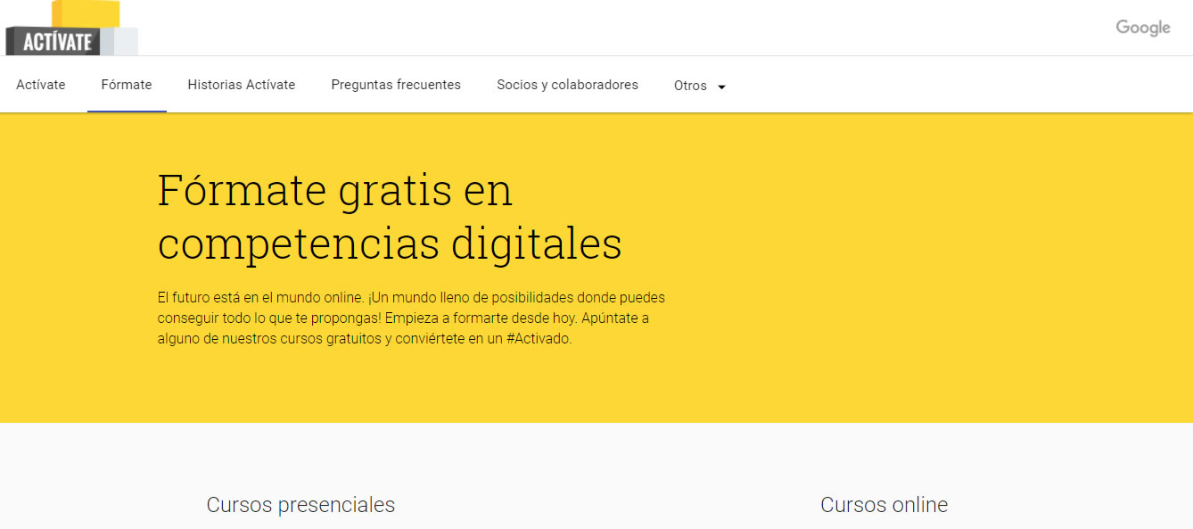 cursos gratuitos de marketing digital: Google Activate
