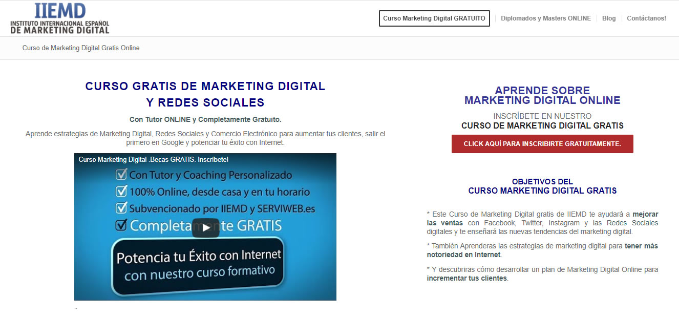 98c616738e236 18 páginas web con cursos gratuitos de marketing digital - MDirector.com