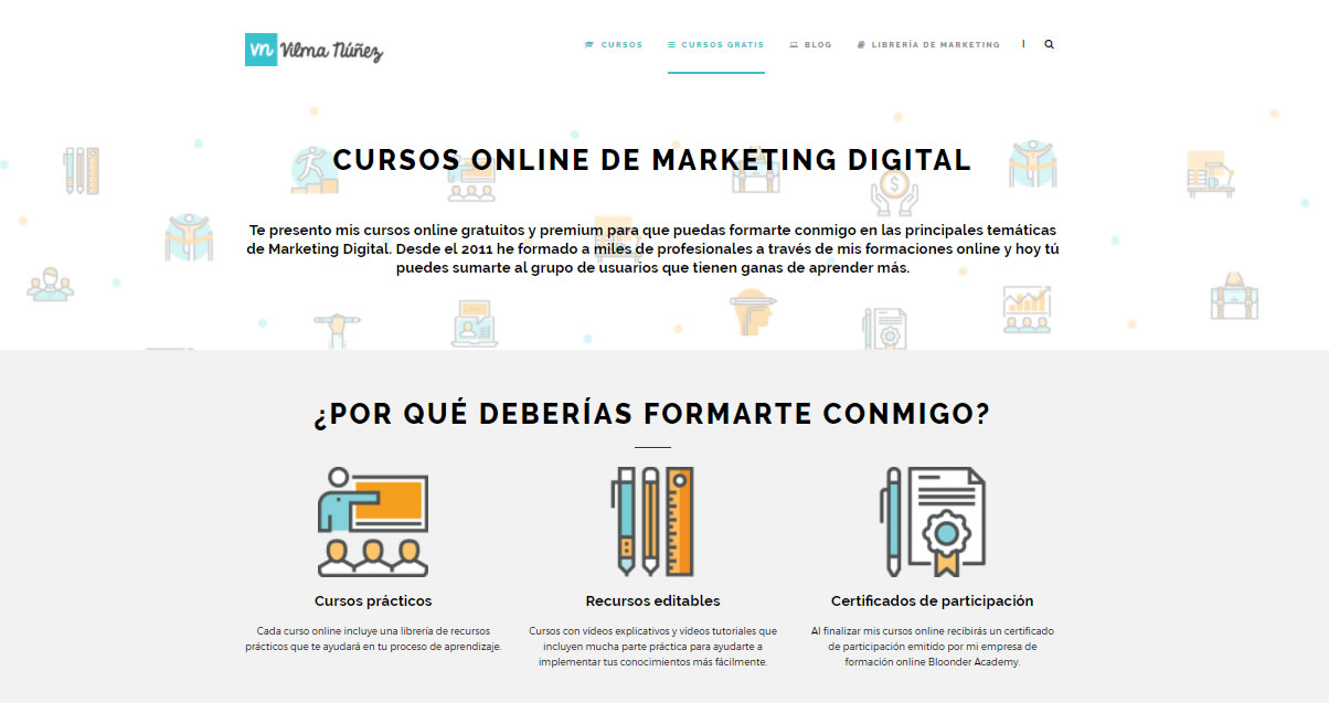 cursos gratuitos de marketing digital: Vilma Núñez