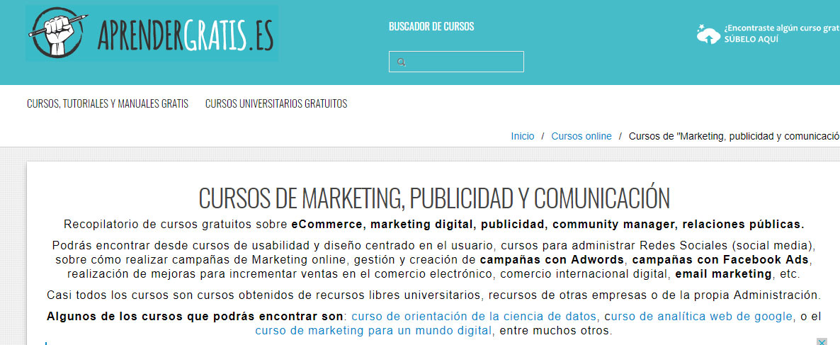 cursos gratuitos de marketing digital: Aprende Gratis