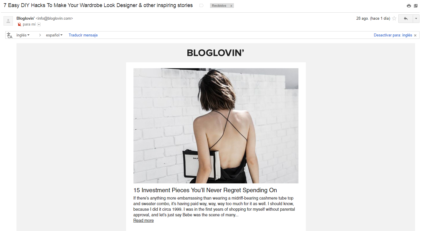 email subjects that will provoke opens: Bloglovin