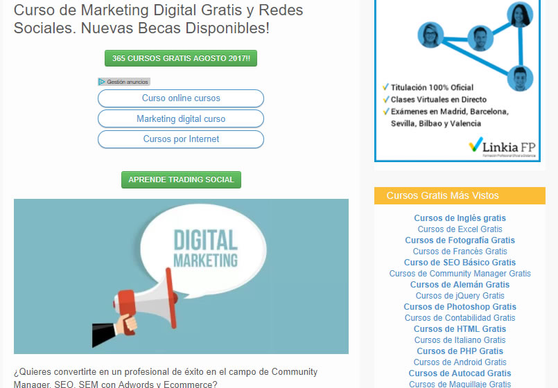 cursos gratuitos de marketing digital: Formación online