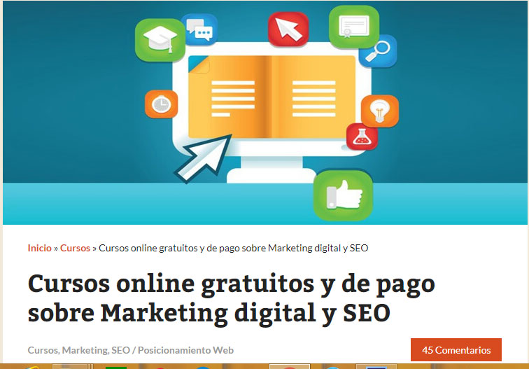 cursos gratuitos de marketing digital: Mi posicionamiento web