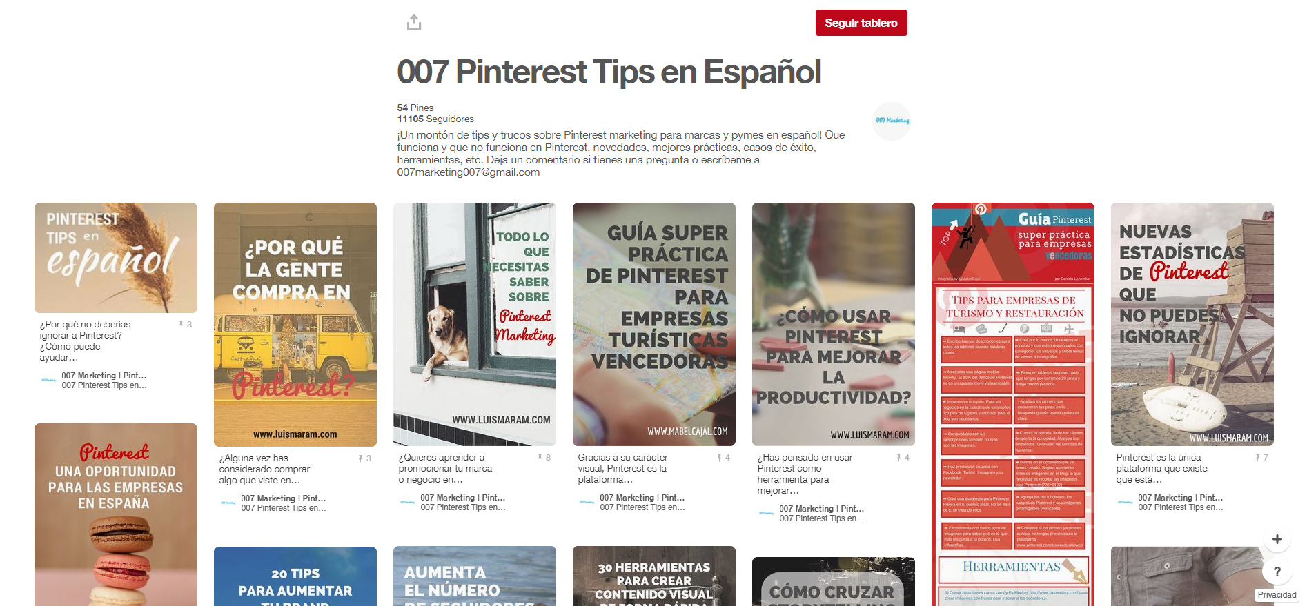 tableros de marketing digital: Pinterest tips en español