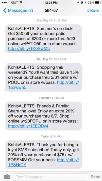 tipos de SMS