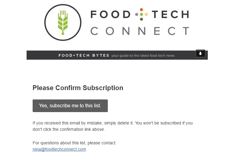 welcome emails that increase conversions: food tech connect