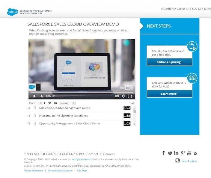 landings y Adwords: Salesforce