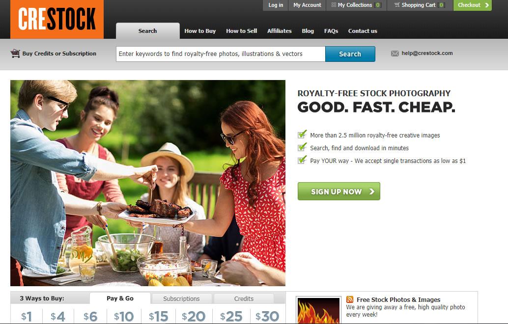 herramientas complementarias para email marketing: Crestock