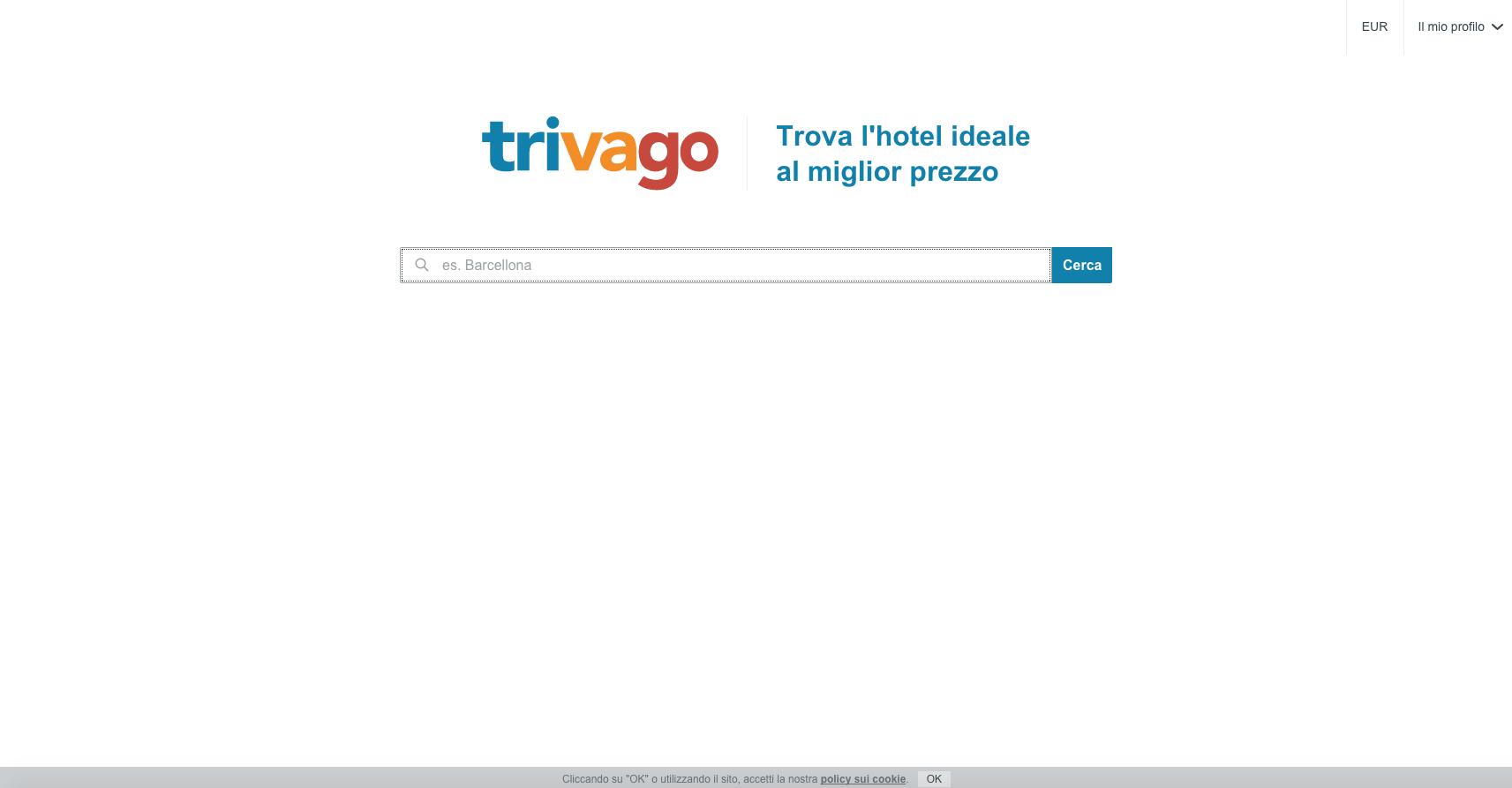 siti web di viaggi: trivago