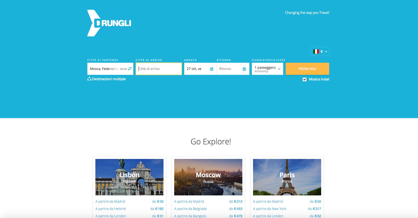 siti web di viaggi: dungli