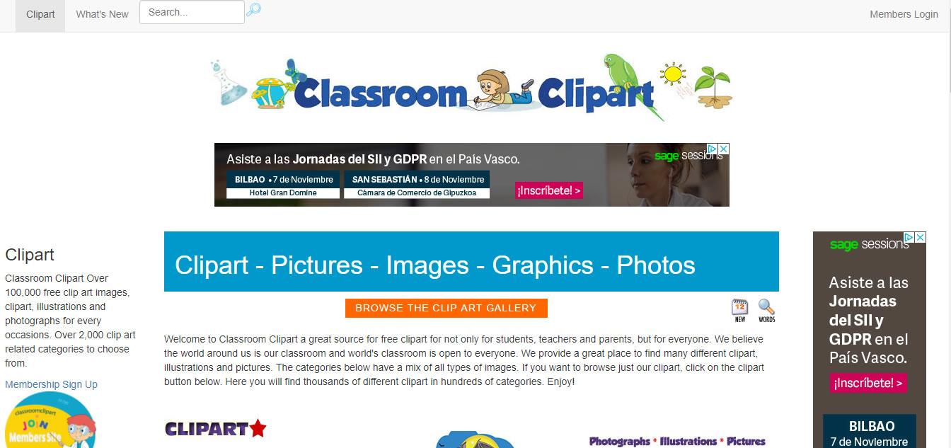 herramientas complementarias para email marketing: Classroom Clipart