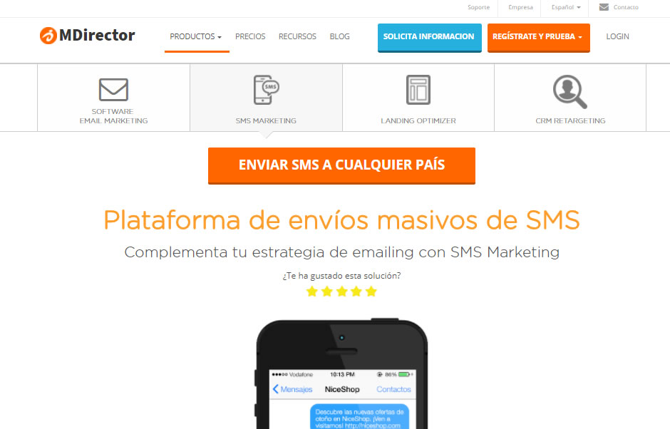 MDirector SMS Marketing