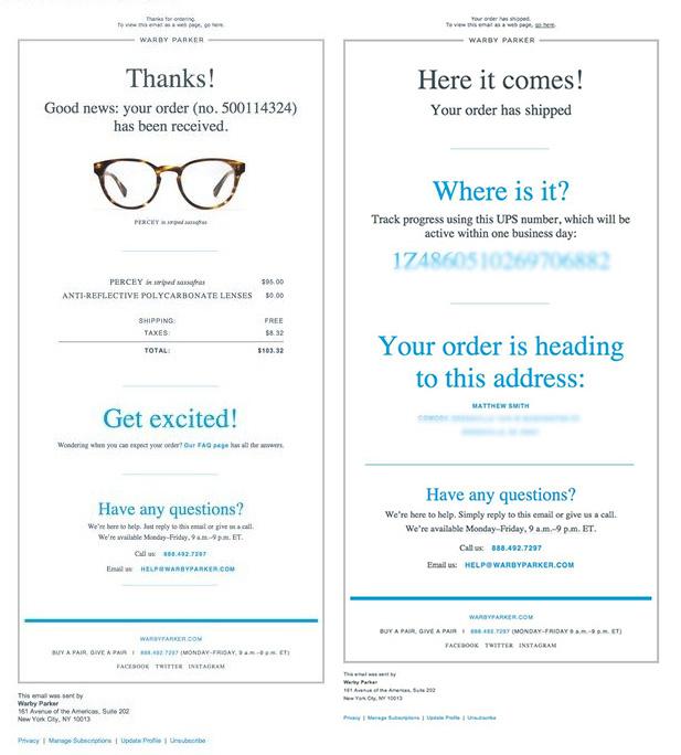 ecommerce que lo hacen bien en email marketing: Warby Parker