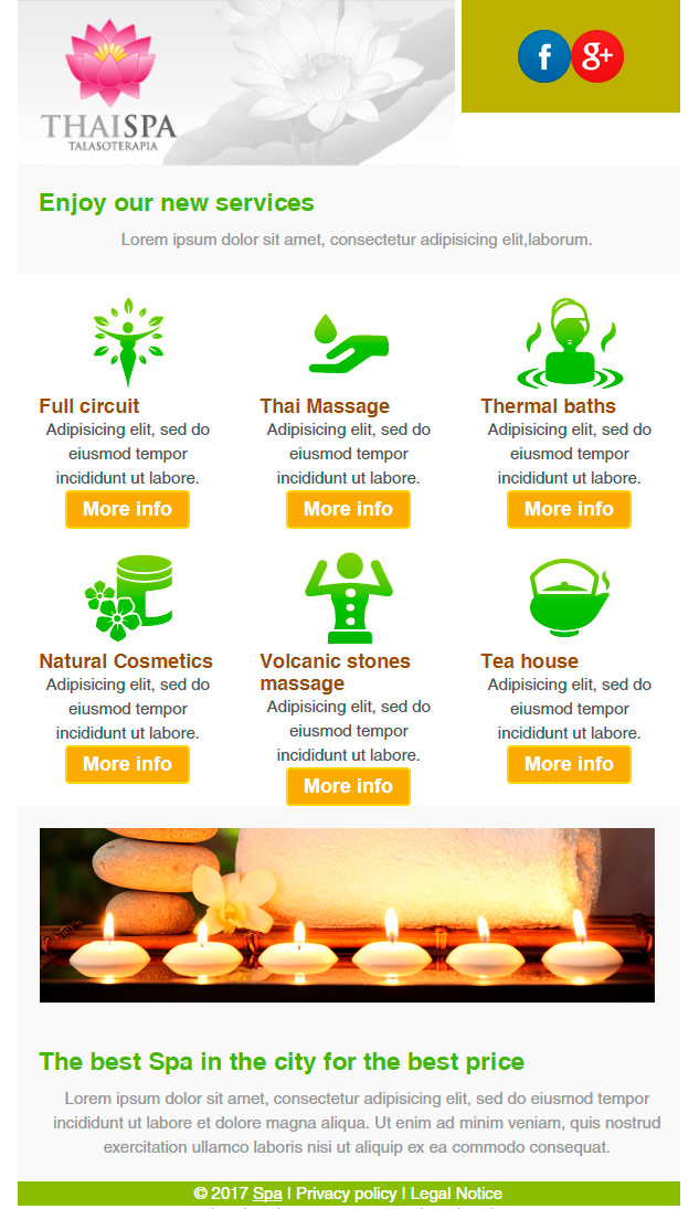 email template: healthy and beauty