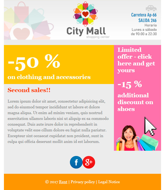 Fantastic Email Templates Effective Guide By MDirector - Special offer email template