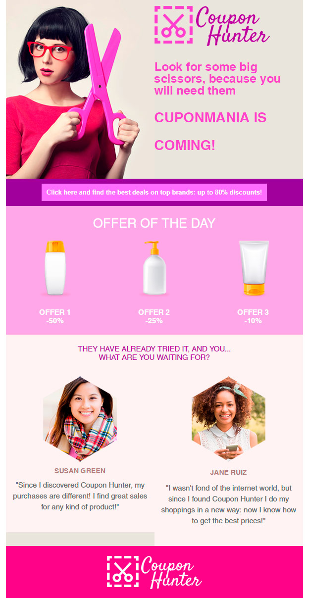 email template: ecommerce