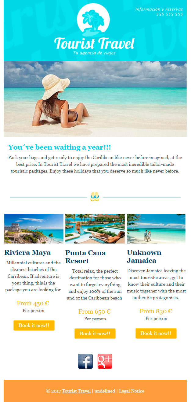 email template: travel