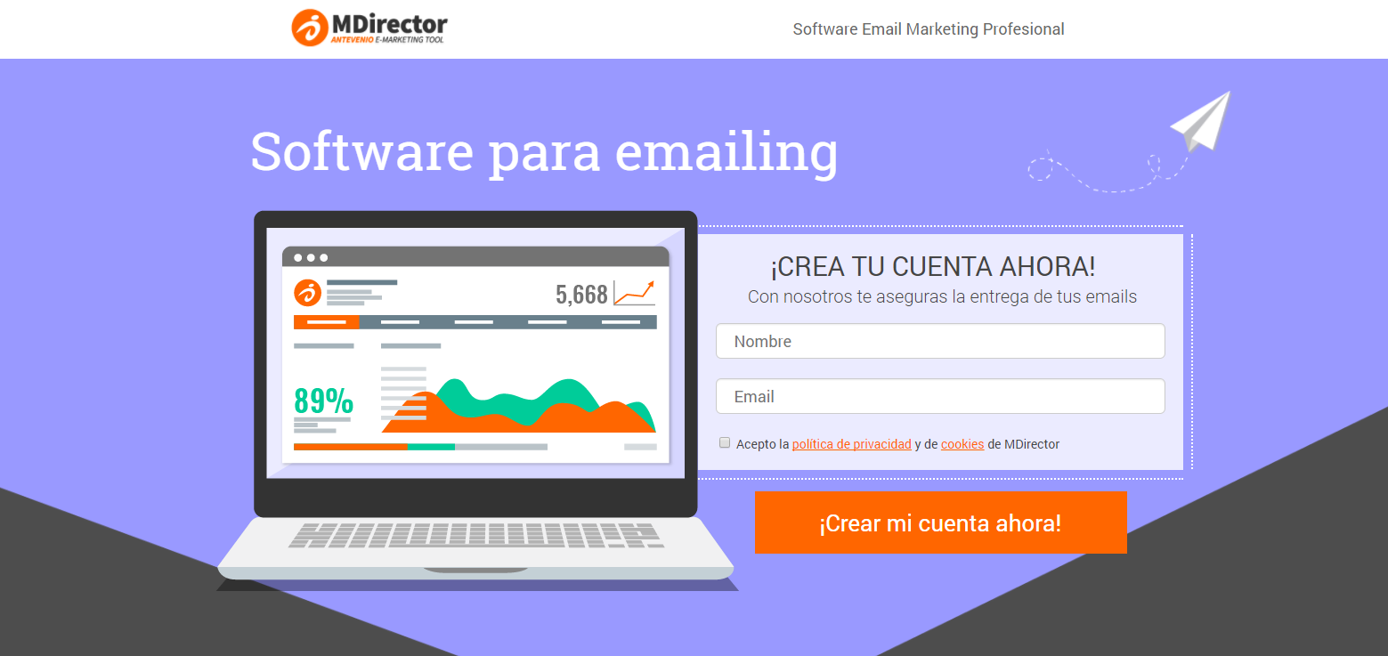 crear landing pages efectivas: aspecto visual