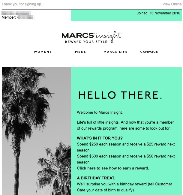 ecommerce que lo hacen bien en email marketing: Marcs Insight