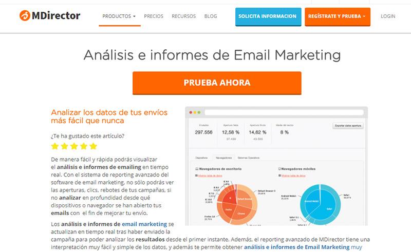 herramientas complementarias para email marketing: MDirector