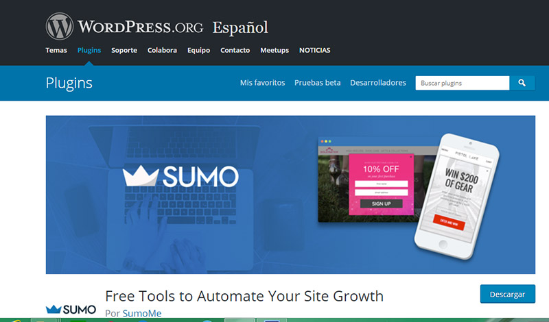 herramientas complementarias para email marketing: Sumome
