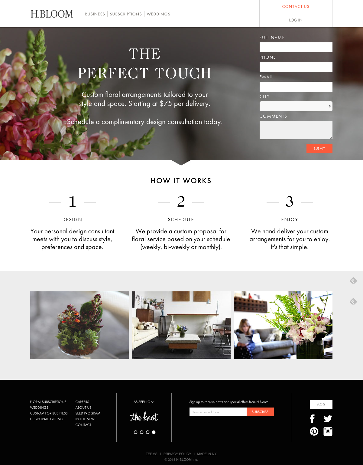 campagne con landing pages di successo: H-Bloom