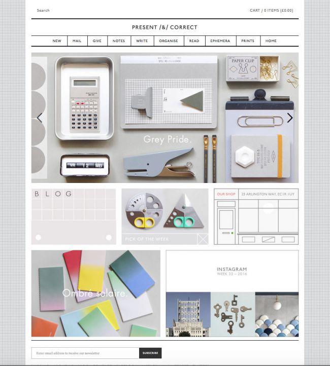 campagne con landing pages di successo: Present & Correct
