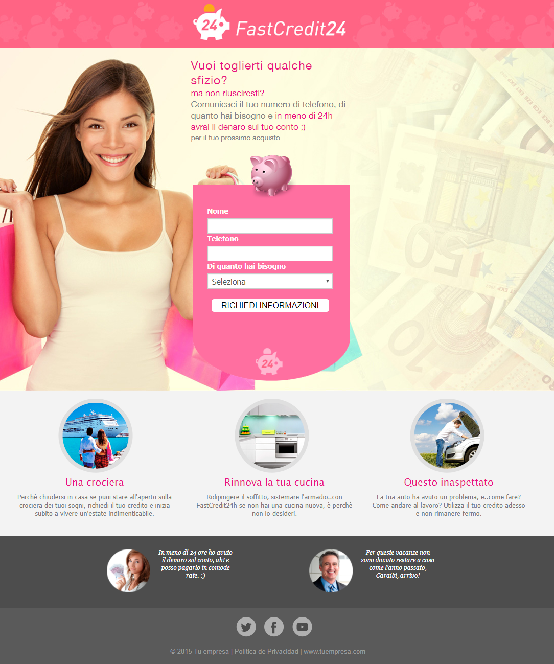 template gratuiti per landing pages