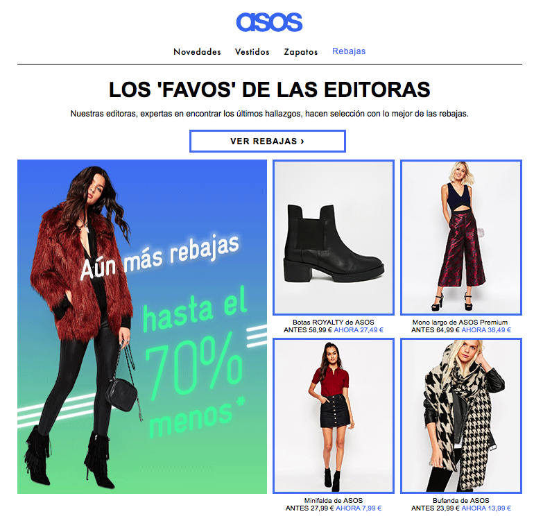 email marketing para las rebajas de enero