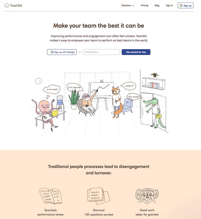 landing page centrada en el usuario
