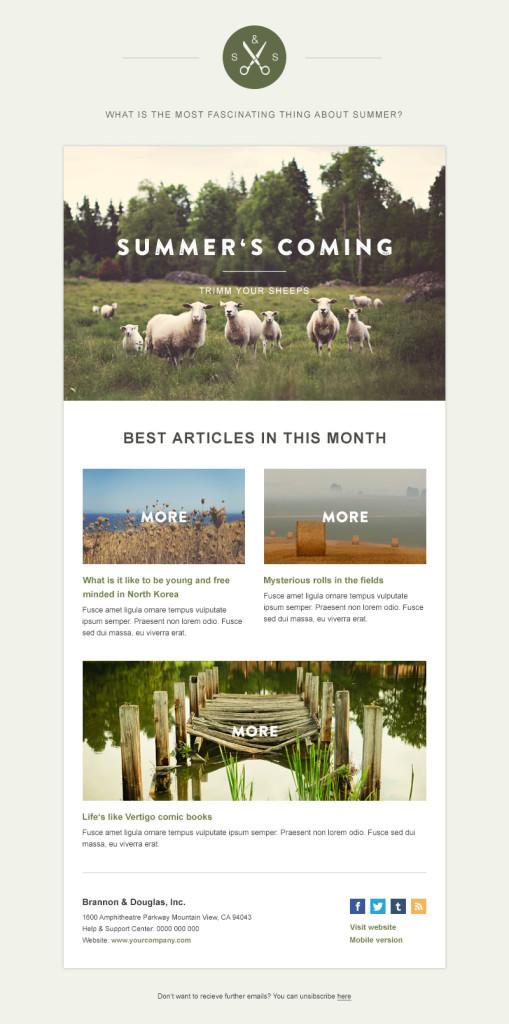 plantillas de newsletters gratuitas