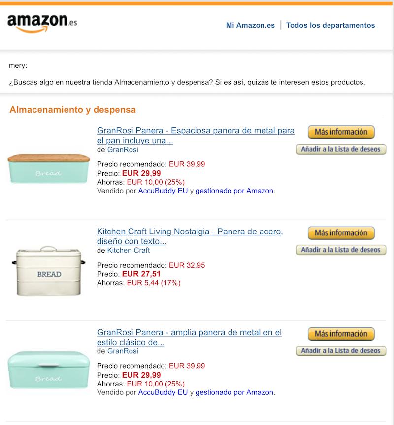ejemplo de Amazon