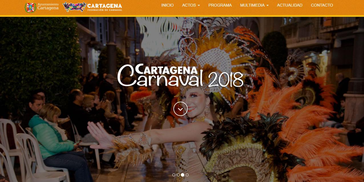landing page para carnaval - Cartagena